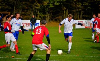 Fodboldkamp Herre-DS Pulje 4 - Tjørring IF mod Kjellerup IF